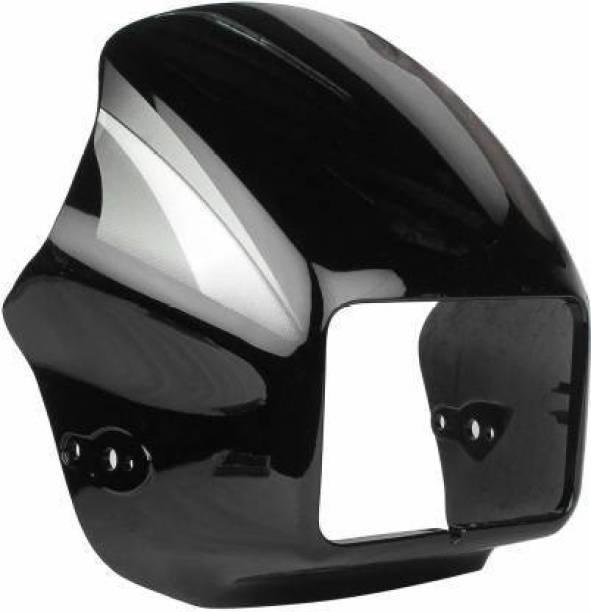 shiv ambika Black Visior for Splendor, Splendor Plus with Grey (Black/Grey) Bike Headlight Visor