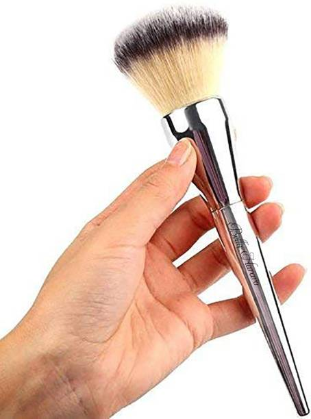 BELLA HARARO Extra Soft Skinplus Ladista Wooden Handle Foundation Metallic Finish Large Face Blush Powder Brush