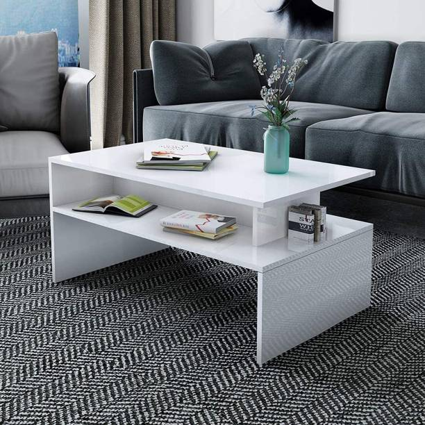 Aart Store Side end/Coffee Table/Center Table Table Living Room Finish:-White Solid Wood Coffee Table