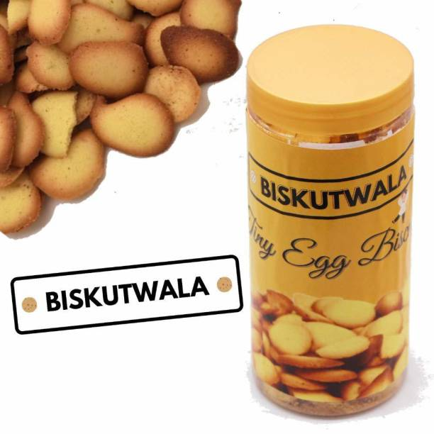 Biskutwala Tasty Tiny Egg Biscuits for Kid's Munching (Pack of 1 box) Cookies