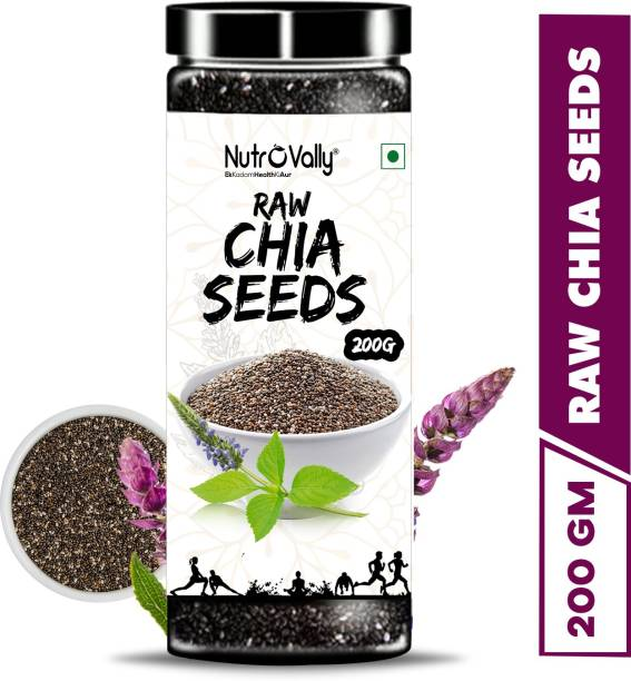 NutroVally Raw Chia Seeds for Weight Loss with Omega 3 , Zinc and Fiber, Calcium Rich Seeds