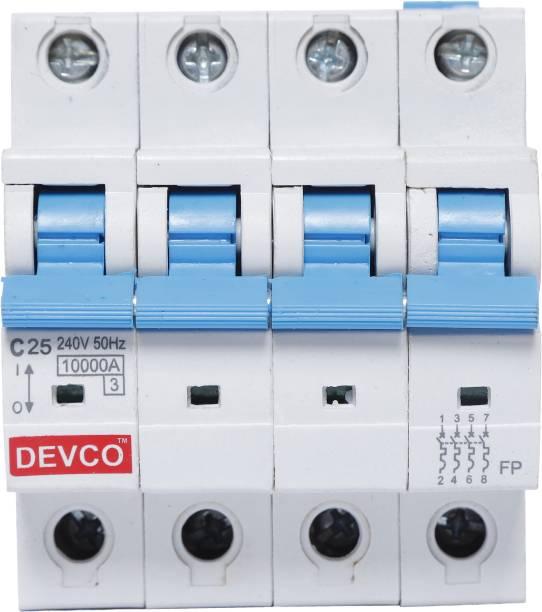 DEVCO 4-Pole 25-Amp (C-Curve 10kA) MCB40250C MCB