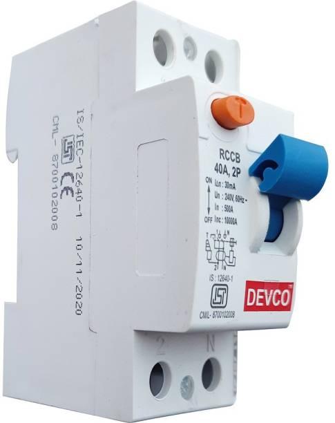 DEVCO 2-Pole-40-Amp (30mA)-RCCB RCC204003 MCB