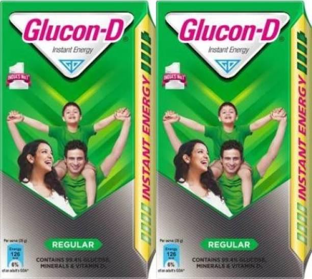 GLUCON-D Instant Energy Health Drink Regular (Pack of 2) Energy Drink