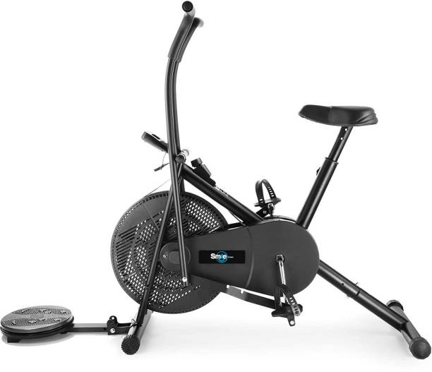 Smile Fitness Air Bike Fitness Exercise Cycle For Home Moving Handles Exercise bike with Twister Dual-Action Stationary Exercise Bike