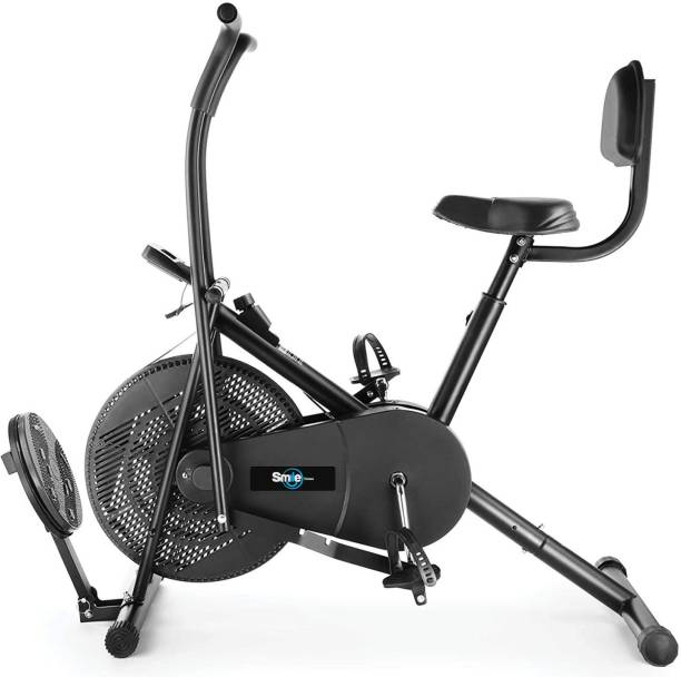 Smile Fitness Air Bike Fitness Exercise Moving Handles Exercise bike with back rest and twister Dual-Action Stationary Exercise Bike