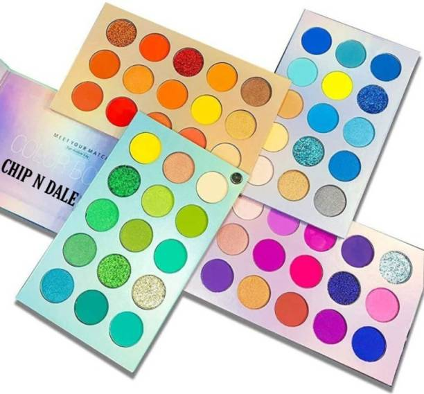 Chip N Dale Eyeshadow Palette 60 Colours Mattes And Shimmers High Pigmented Color Board Palette Long Lasting Makeup Palette Blendable Professional Eye Shadow Make Up Eye Cosmetics 60 ml 60 ml