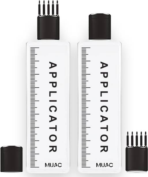 MUAC Hair Root Applicator Bottle with Comb Cap for Applying Oil, Shampoo and Medicines.