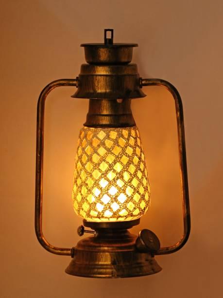 AFAST White, Gold Iron, Glass Table Lantern