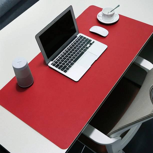 Clapcart Vegan PU Leather Computer & Laptop Desk Mat For Office, Work Place & Gaming Anti-Skid, Anti-Slip, Waterproof Reversible, Foldable (90 x 45 cm) Mousepad
