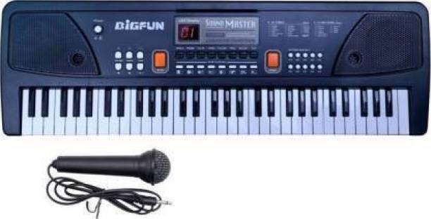 NIA BigFun 61 keys Electronic Piano Keyboard with LED Display & Microphone (Black)