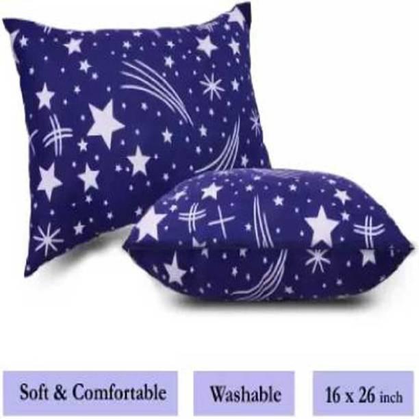 Yash Enterprises Microfibre Abstract Sleeping Pillow Pack of 5