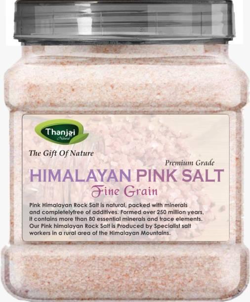 THANJAI NATURAL Himalayan Pink Salt Fine Grain (Powder) 900g Jar 100% Natural Premium Quality - for Weight Loss / Healthy Cooking / Himalayan Pink Salt