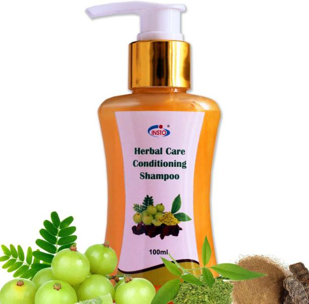 Insto HERBAL CONDITIONONG SHAMPOO for Hair Growth , Repairing Hair, preventing dandruff, Scalp Cleansing, Nourising, shining and Reducing hair Fall.