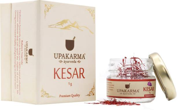 UPAKARMA Certified Natural, Pure and Organic Finest A++ Grade Saffron /Kashmiri kesar 1 Gram (pack of 1)