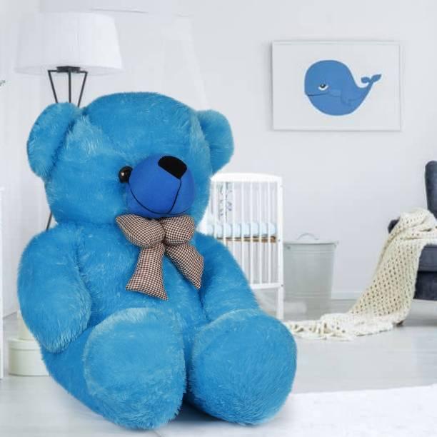 Dani Daniels 3 Feet Very Cute Long Soft Hugable American Style Teddy Bear Best For Gift - 90 cm (sky Blue) - 91 cm (Sky Blue)  - 91 cm