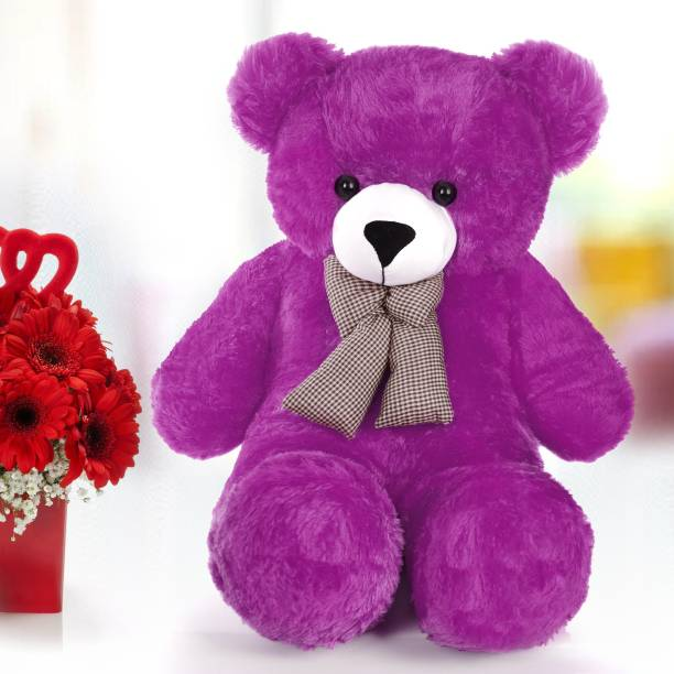 nitu 3ft Feet purple Soft & Smooth Teddy Bear Very Smooth Toys Birthday  - 90 cm