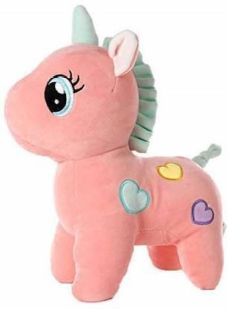 Hello Baby Soft Plush Cute Unicorn Soft Stuffed For Kids Infants - 24 Cm(Pink)  - 24 cm