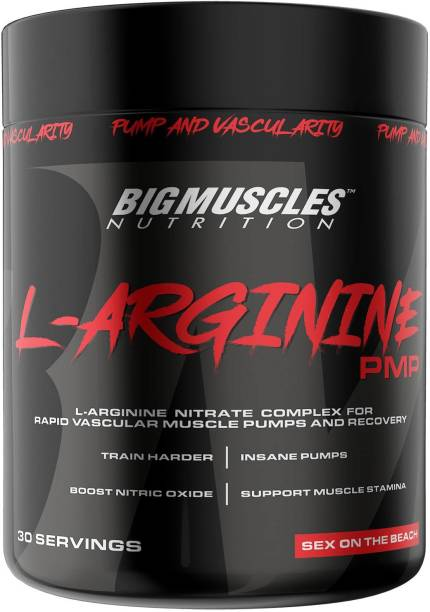 BIGMUSCLES NUTRITION L-Arginine PMP Powder [30 Serving] | Muscle Building Amino Acid | Faster Recovery BCAA