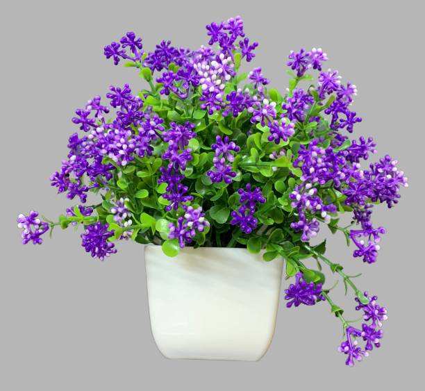 Litleo Table Top Mini Dotted Flower for Home Office Decoration or Gift Blue Peony Artificial Flower  with Pot