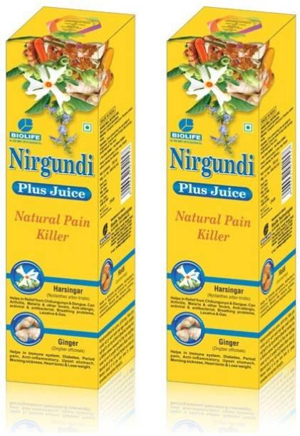 Bio Life Nirgundi Plus Juice - 700 ML(Pack of 2)