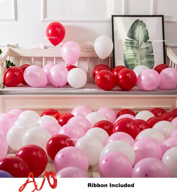 TNDECORLY Solid HD Metallic balloons (51 Pcs) Balloons with Balloon