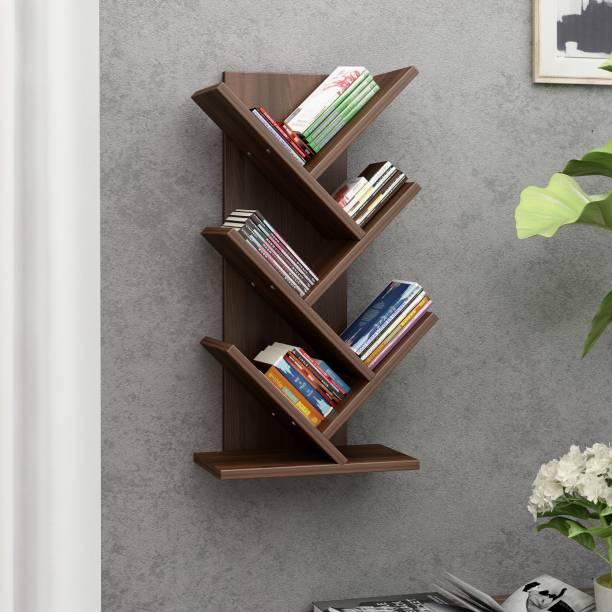 Crystal Furnitech Engineered Wood Open Book Shelf