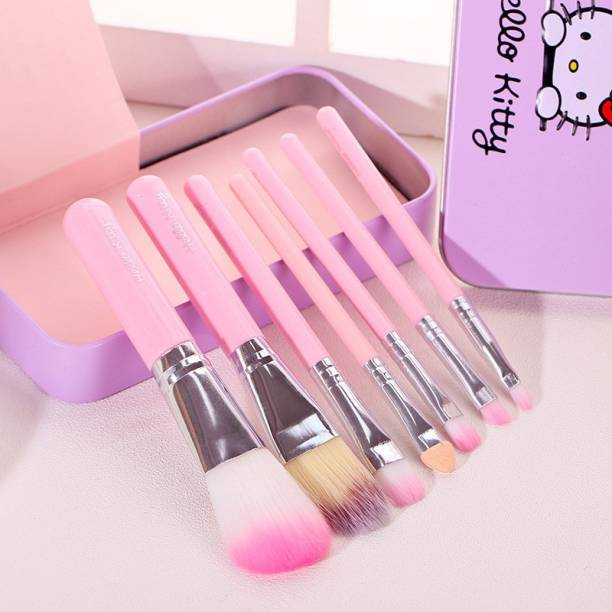 ivry PINK HELLO KITTY BRUSH SET( PACK OF 7) BRUSHES