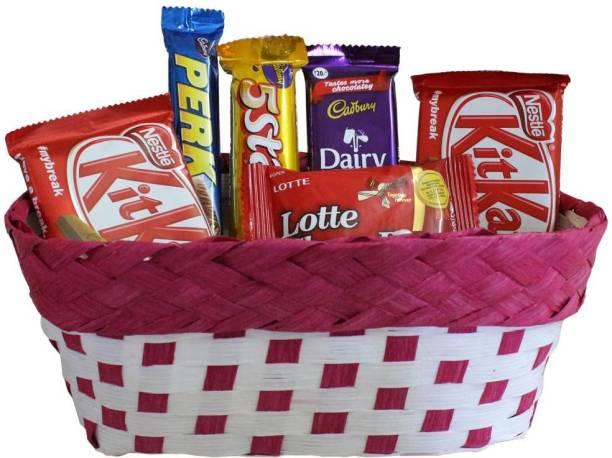 Cadbury Chocolate Gift Basket Hamper|Chocolates gift Hamper | Chocolate Gift Collection | Chocolate Gift Basket For Rakhi, Diwali, Velentine, Christmas, Birthday, Anniversary Bars