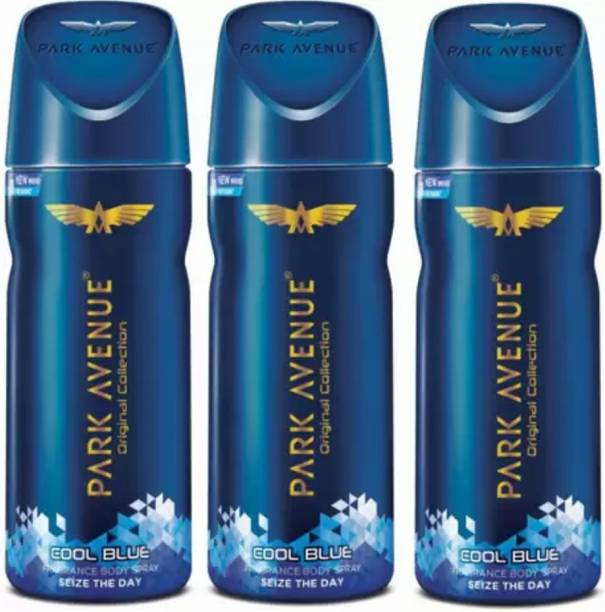 PARK AVENUE Cool Blue Body Spray For Men 150 Ml Pack Of 3 w2w Body Spray  -  For Men