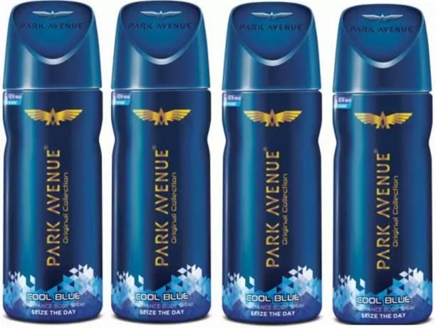 PARK AVENUE Cool Blue Men Body Spray 150 Ml Pack Of 4w2w 1 Body Spray  -  For Men