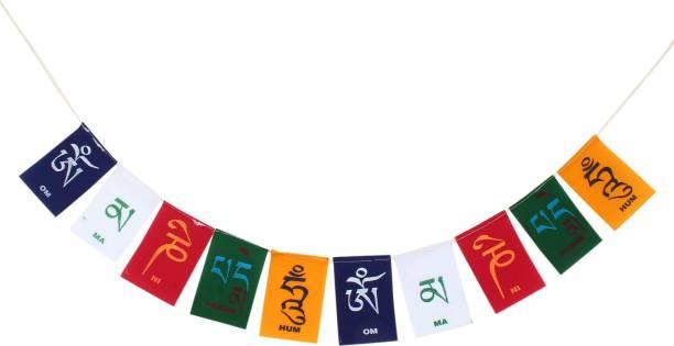 PARTY MIDLINKERZ Tibetian Buddhist Prayer Flags for Bike Rectangle Outdoor Flag Flag