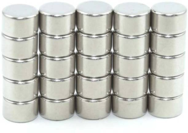 ART IFACT 25 Pieces of 8mm x 5mm Neodymium Magnets - N52 Disc / Cylindrical magnets - Rare Earth NdfeB Fridge Magnet, Multipurpose Office Magnets, Magnetic Paper Holder Pack of 25