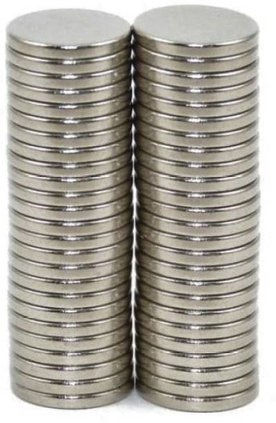 ART IFACT 50 Pieces of 8mm x 1.5mm Neodymium Magnets - N52 Disc / Cylindrical magnets - Rare Earth NdfeB Fridge Magnet, Multipurpose Office Magnets, Magnetic Paper Holder Pack of 50