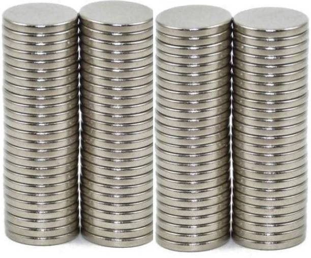 ART IFACT 100 Pieces of 8mm x 1.5mm Neodymium Magnets - N52 Disc / Cylindrical magnets - Rare Earth NdfeB Fridge Magnet, Multipurpose Office Magnets, Magnetic Paper Holder Pack of 100