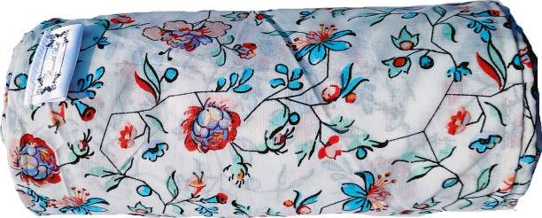BUMBLEBELLS Bengkung Belly Binding cloth_17 Meters long 7.5 inch width_White base flower design cambric cotton fabric