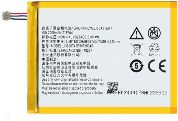 RJR Mobile Battery For  ZTE Airtel Hotspot (ZTE) MF920V MR150-2, MR150-5, MTC835F, ZTE Grand S Flex(Li3820T43P3h715345)