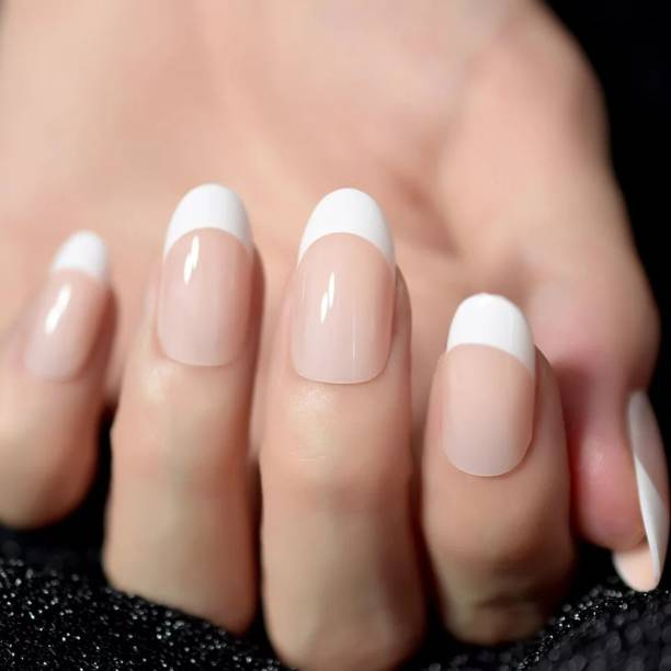 business venture 24 PC/Set Designer FRENCH Reusable Artificial Nail/Nails. White