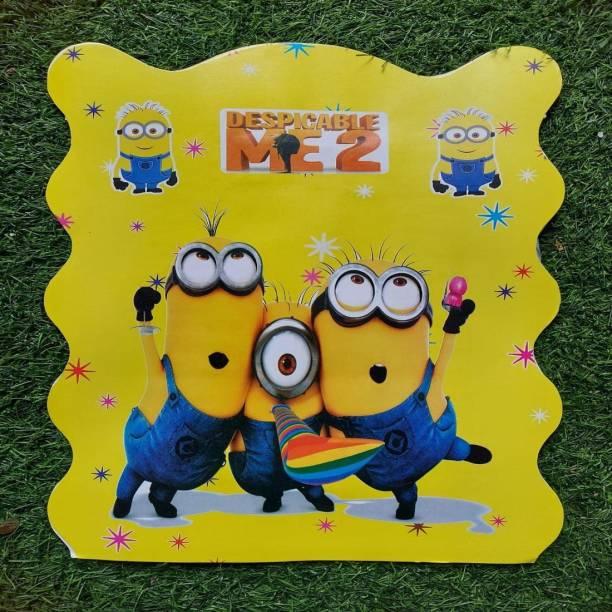 BOOKMYBALLOONS Minions Cartoon Paper Pinata Khoi bag Pull String Pinata