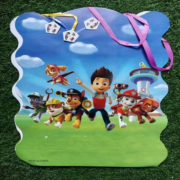 BOOKMYBALLOONS cartoon Paper Pinata Khoi bag Pull String Pinata