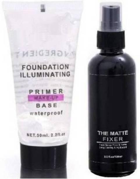 Solxona Makeup Base Primer With Makeup Fixer Spray Primer - 100 Ml (Transparent) Primer - 50 Ml (Transparent) Primer  - 150 ml