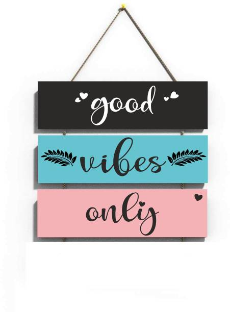 Crafts World GOOD VIBES ONLY WALL HANGING