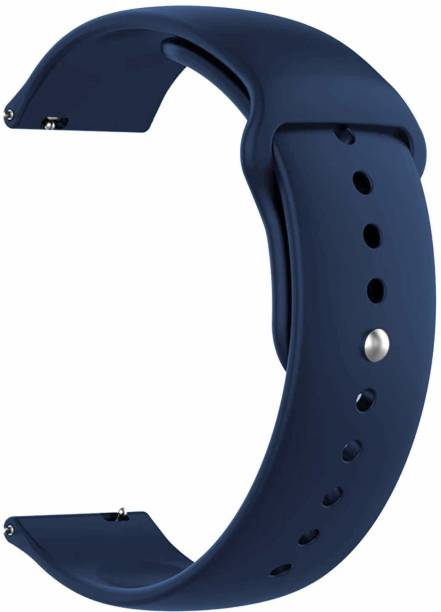 Rexan Watch Band 42/44 mm , Smooth , Soft , Rubber , (Use In All Apple Wach 42/44 & Smart Watch W26 , T55 Etc..) Smart Watch Strap (Black) Smart Band Strap