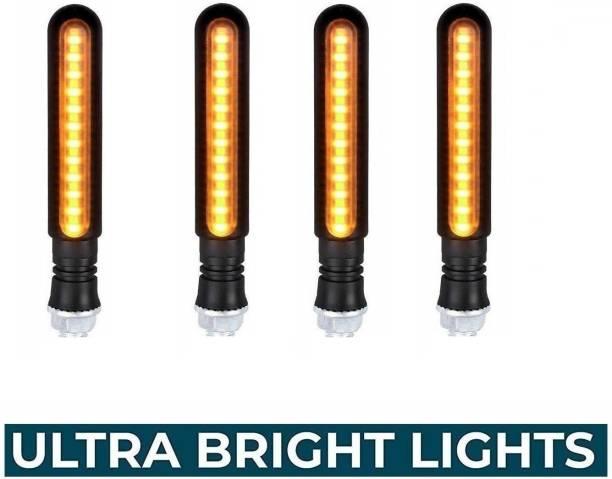 Wangsales Side, Front, Rear LED Indicator Light for Hero, Bajaj, Royal Enfield, KTM, Bajaj, Suzuki, TVS, Honda Universal For Bike