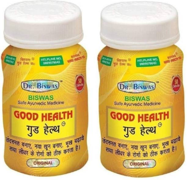 Dr. Biswas Ayurvedic Good Health (Pack of 2, 2*50 Tab)