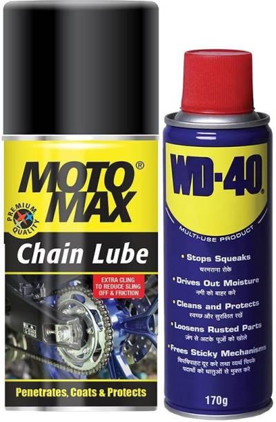 Pidilite Motomax bike Maintenance kit -WD-40 Multi Purpose spray 170g, Chain lube spray 200ml Combo