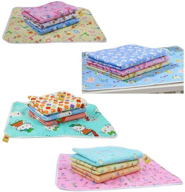 Fareto New Born Baby Care Nappy Changing Plastic Sheets(Pack of 16)