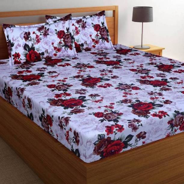 hmm 144 TC Polycotton Double 3D Printed Bedsheet