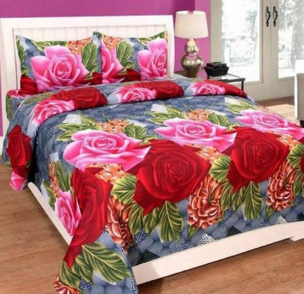hmm 104 TC Cotton Double Printed Bedsheet