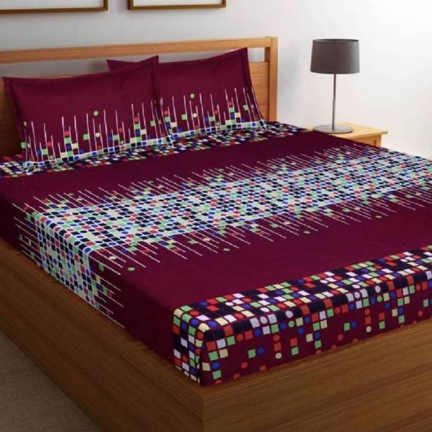 hmm 144 TC Cotton Double Printed Bedsheet